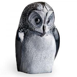 Målerås Glasbruk Safari Pöllö Musta