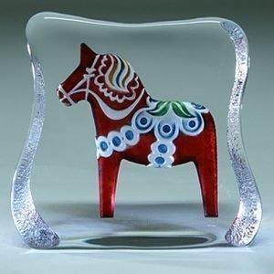 Målerås Glasbruk Taalainmaan Hevonen Punainen Perinteinen