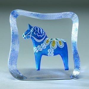 Målerås Glasbruk Taalainmaan Hevonen Sininen Perinteinen