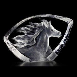 Målerås Glasbruk Wildlife Hevonen