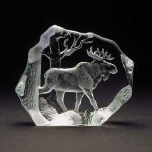Målerås Glasbruk Wildlife Hirvi