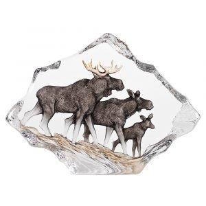 Målerås Glasbruk Wildlife Hirviperhe