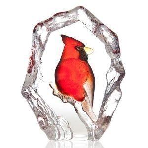 Målerås Glasbruk Wildlife Kardinaali
