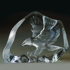 Målerås Glasbruk Wildlife Kotka Lentävä