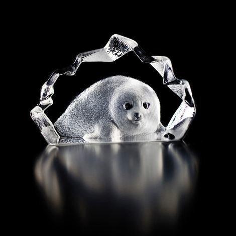 Målerås Glasbruk Wildlife Lasiminiatyyri Hylje Lasi