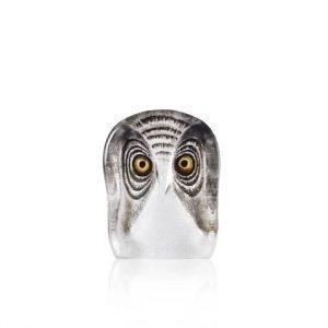 Målerås Glasbruk Wildlife Pöllö Small Maalattu
