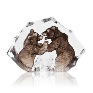 Målerås Glasbruk Wildlife Taistelevat Karhut