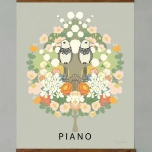 Majvillan Piano Juliste