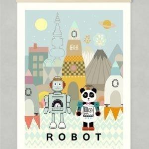 Majvillan Robot Juliste