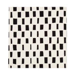 Marimekko Iso Noppa Keittiöpyyhe Valkoinen / Musta 50x53 Cm