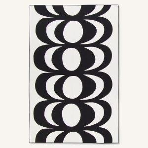 Marimekko Kaivo Pöytäliina Off White / Tummanharmaa 140x220 Cm