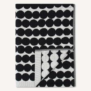 Marimekko Räsymatto Kylpypyyhe Valkoinen / Musta 70x150 Cm