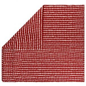 Marimekko Räsymatto Pussilakana Valkoinen Punainen 240x220 Cm