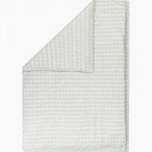 Marimekko Räsymatto Pussilakana Valkoinen Vaaleanharmaa 150x210 Cm