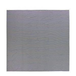 Marimekko Tasaraita Lakana Luonnonvalkoinen Tummansininen 270x270 Cm