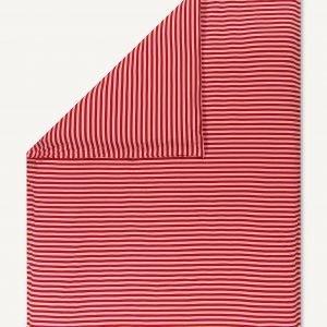 Marimekko Tasaraita Trikoopussilakana Punainen Vaaleanpunainen 150x210 Cm