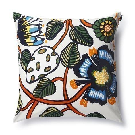 Marimekko Tiara Tyynynpäällinen 50x50 cm Luonnonvalkoinen-Oranssi-Sininen