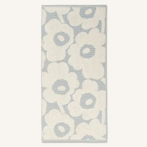 Marimekko Unikko Kylpypyyhe Off White / Sininen 70x150 Cm