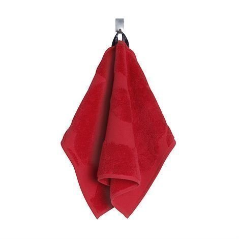 Marimekko Unikko Pinta Pyyheliina Punainen Vieraspyyhe 30x50 cm