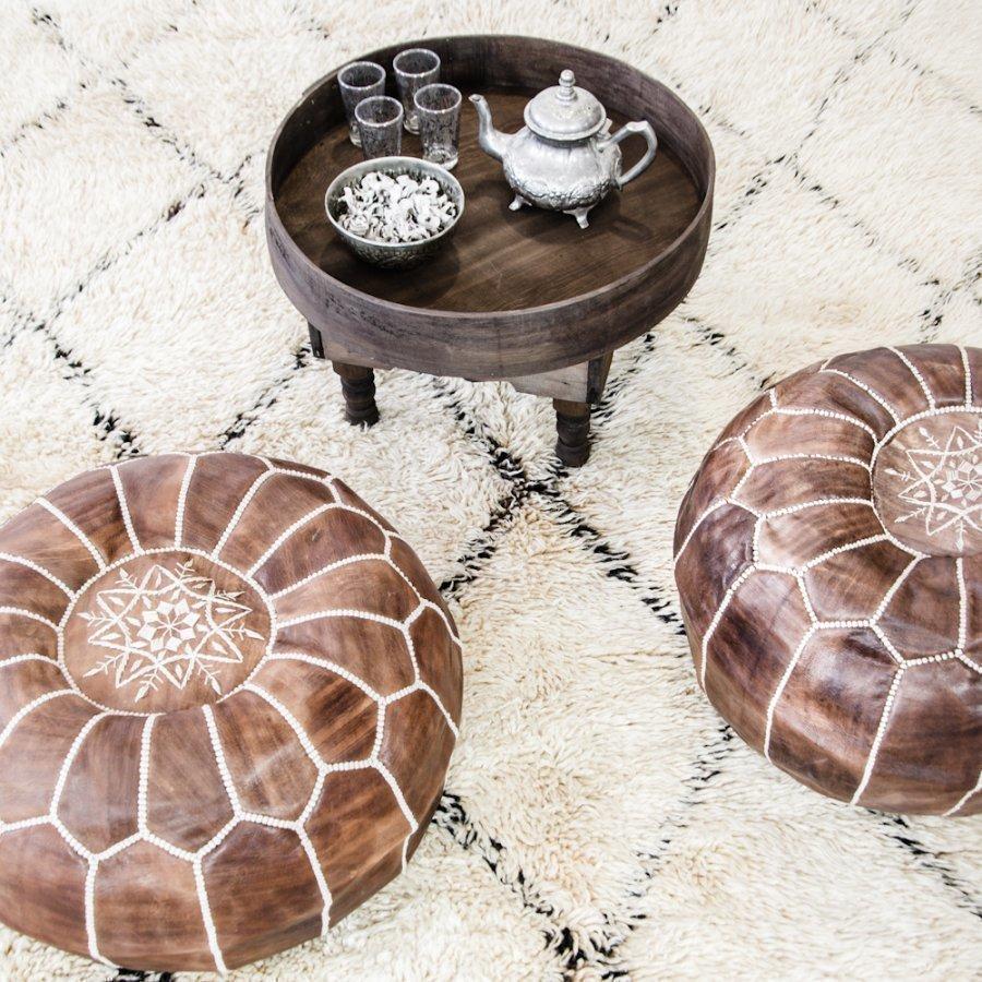 Marokkolainen Teepöytä Ruskea