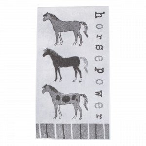 Martinex Horse Power Badlakan Kylpypyyhe Harmaa 70x140 Cm