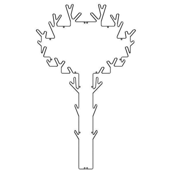 Maze Tree Hanger Ripustin Musta