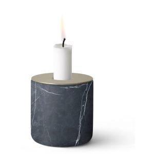 Menu Chunk Of Black Marble Kynttilänjalka L
