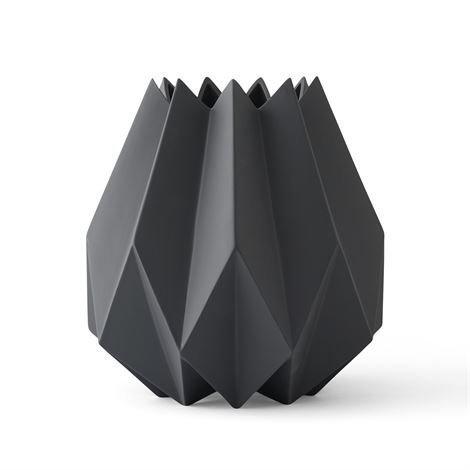 Menu Folded Maljakko Korkea Carbon Harmaa