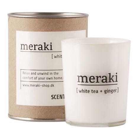 Meraki Tuoksukynttilä 35 Tuntia White Tea-Ginger