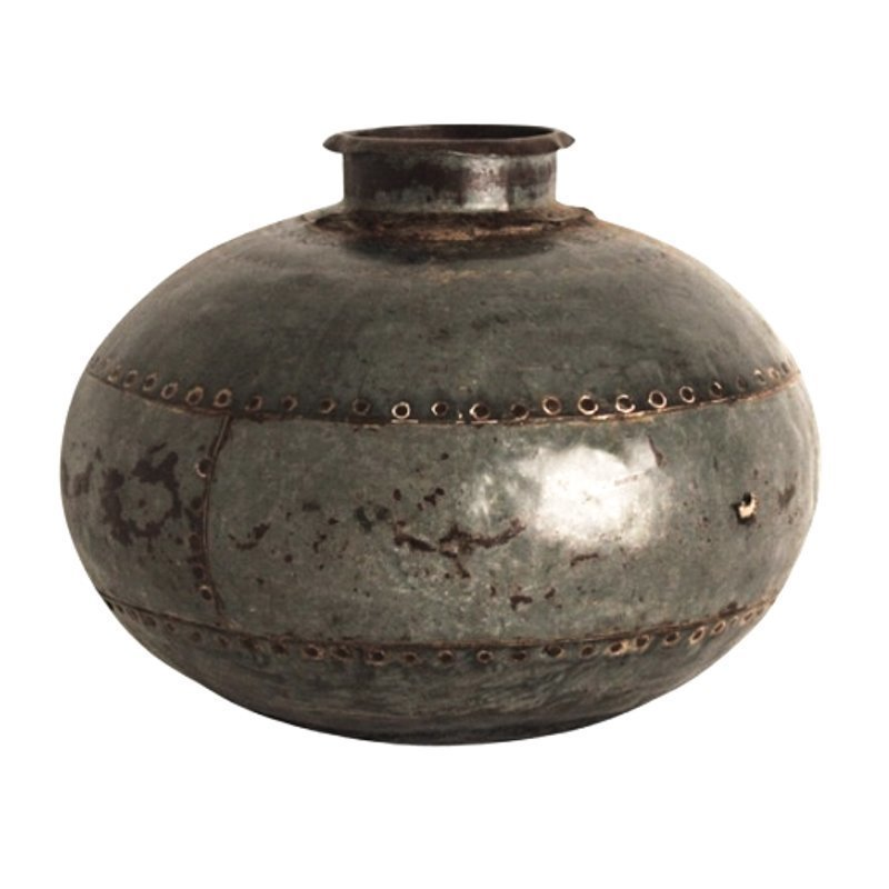 Metallinen Vintage Vesiastia Pyöreä