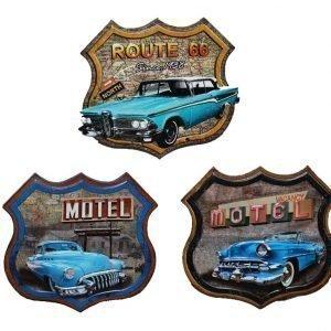 Metallitaulu Retro Auto 54 X 52 Cm