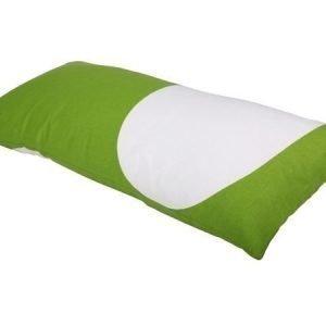 Mette Ditmer Cosmos-tyynynpäällinen 35 x 70 cm vihreävalkoinen