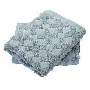 Mette Ditmer Cross Vieraspyyhe Sininen 35x55 Cm 2-Pakkaus