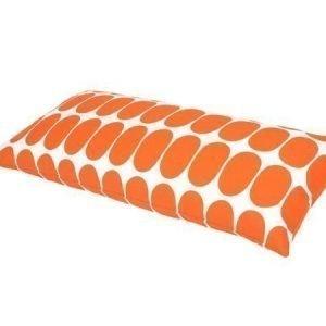 Mette Ditmer Ellipse-tyynynpäällinen 35 x 70 cm oranssivalkoinen