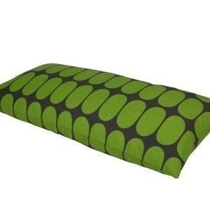 Mette Ditmer Ellipse-tyynynpäällinen 35 x 70 cm vihreäharmaa