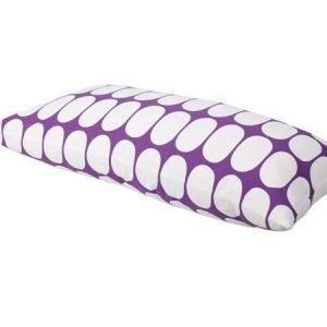 Mette Ditmer Ellipse-tyynynpäällinen 35 x 70 cm violettivalkoinen