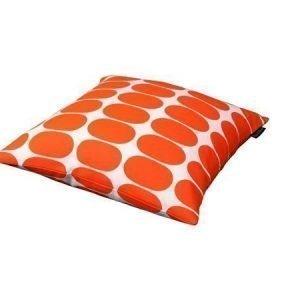 Mette Ditmer Ellipse-tyynynpäällinen 45 x 45 cm oranssivalkoinen
