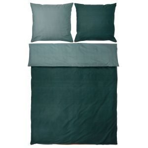 Mette Ditmer Shades Pussilakanasetti Pine Green 150x210 Cm