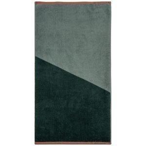 Mette Ditmer Shades Pyyheliina Tummanvihreä 50x95 Cm