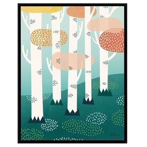 Michelle Carlslund Illustration Juliste Iso Forest