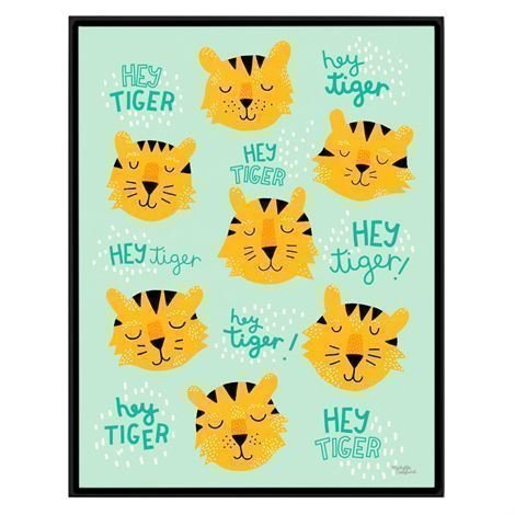 Michelle Carlslund Illustration Juliste Iso Hey Tiger