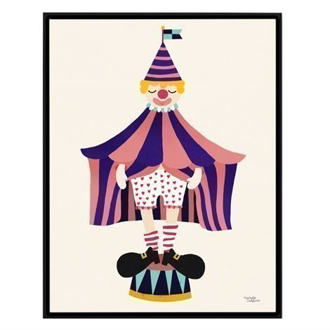 Michelle Carlslund Illustration Juliste Iso The clown