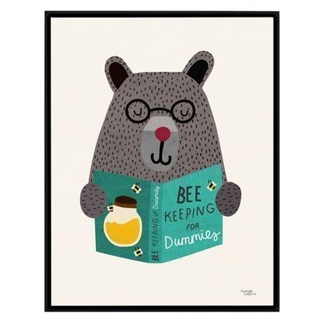 Michelle Carlslund Illustration Juliste Pieni Bee Keeping