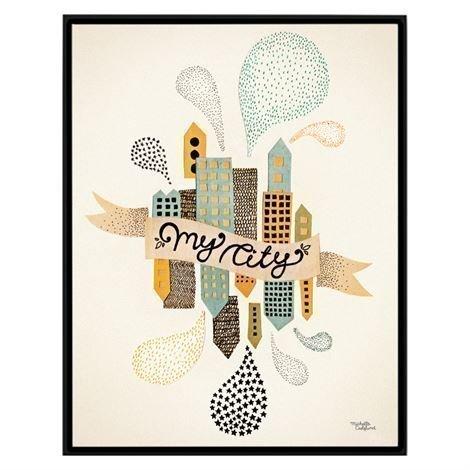 Michelle Carlslund Illustration Juliste Pieni My City Two
