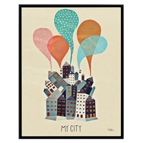 Michelle Carlslund Illustration Juliste Pieni My City