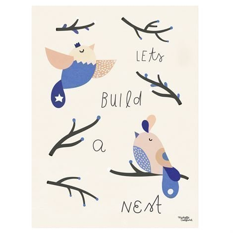 Michelle Carlslund Illustration Juliste Pieni Nest