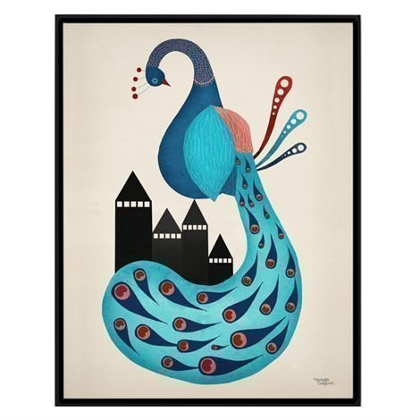 Michelle Carlslund Illustration Juliste Pieni Peacock