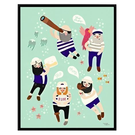Michelle Carlslund Illustration Juliste Pieni Sailor Friends