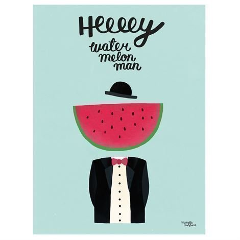 Michelle Carlslund Illustration Juliste Pieni Water Melon Man