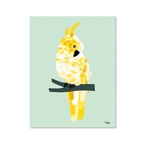 Michelle Carlslund Illustration Juliste Pieni Yellow Cockatoo